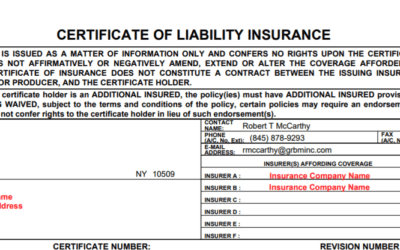 What is a Certificate of insurance? and why is everyone asking you for one.
